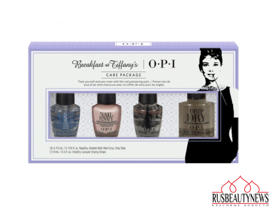 OPI Breakfast At Tiffany's Nail Polish Collection 2016 Care Package Treatment Mini Pack