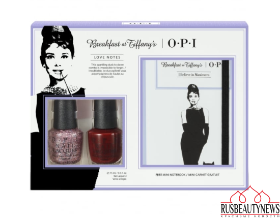 OPI Breakfast At Tiffany's Nail Polish Collection 2016 - Love Notes Duo Pack With Mini Notebook