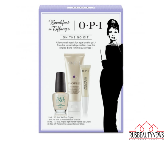 OPI Breakfast At Tiffany's Nail Polish Collection 2016 On The Go Kit