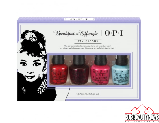 OPI Breakfast At Tiffany's Nail Polish Collection 2016 - Style Icons Mini 4-Pack