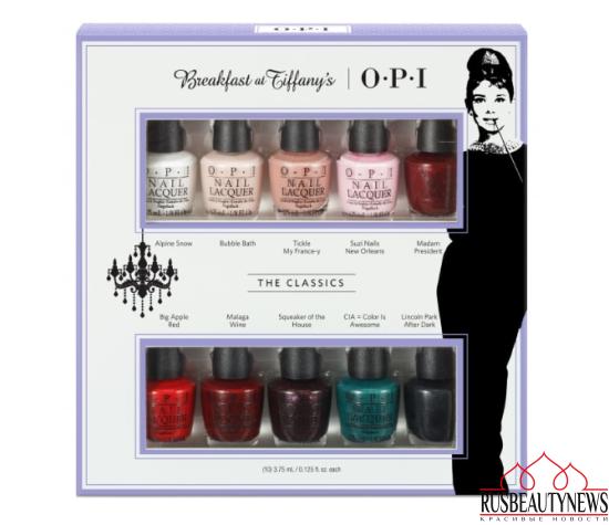 OPI Breakfast At Tiffany's Nail Polish Collection 2016 - The Classics Mini 10-Pack