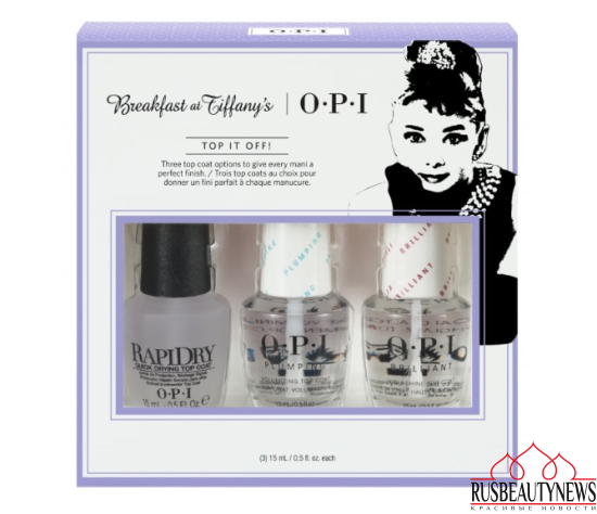 OPI Breakfast At Tiffany's Nail Polish Collection 2016 - Top It Off Top Coat Trio Pack