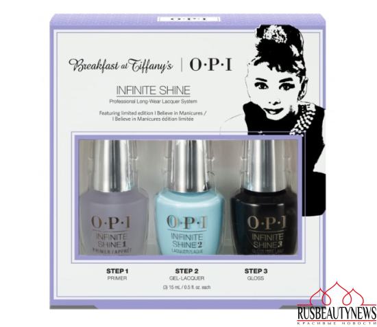OPI INFINITE SHINE Breakfast At Tiffany's Nail Polish Collection 2016 - Trio Pack