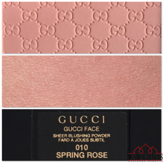 Gucci Face Sheer Blushing Powder 010 Spring rose swatches
