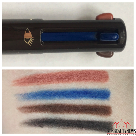 Clarins Stylo 4 couleurs swatches