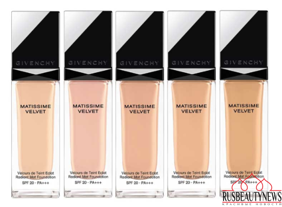 Givenchy Matissime Velvet collection mat foundation