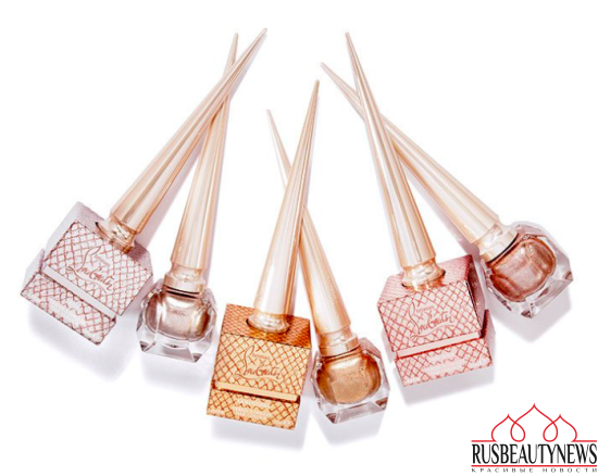 Christian Louboutin Metalinude Collection nail