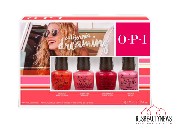 OPI California Dreaming Summer 2017 Collection set