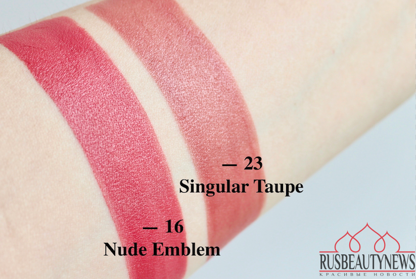 ysl tatouage couture matte stain 23 singular taupe and 16 nude
